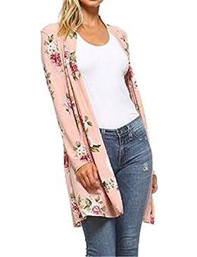 Tayaho Abrigos Manga Larga Mujer Coat Largo De Flores Jacket Bonitas Joven Abrigos Universidad Suelto Tops Oficina...
