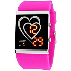 Mother's Day Gifts-Zonman® Heart-shaped LED Fashion Creative Waterproof Couple Student Watches Ladies Stlye