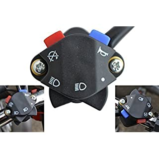 Alchemy Parts & Accessories Motocross Enduro Motorrad Licht Hupe Notschalter für 22mm 7/8