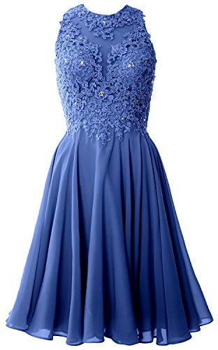 MACloth Women High Neck Lace Cocktail Dress Short Prom Homecoming Formal Gown Horizon