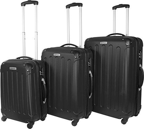 Farbauswahl!! 3 tlg. Reisekofferset Koffer Kofferset Trolley Trolleys Hartschale Farbe Schwarz
