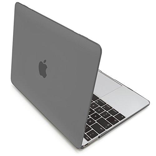 MyGadget Hülle Hard Case [Matt] - für Apple MacBook 12 Zoll Retina (ab 2015) mit USB C (A1534) - Schutzhülle Hartschalen Tasche Plastik Cover in Grau