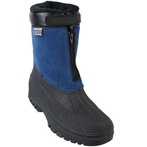 Savage Island Fleece Lined Quick Zip Thermal Snow Rain Waterproof Boots