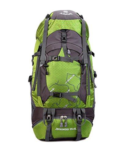 OSOPOLA groß 50L Wander Zelten Outdoor Sport Rucksack Wasserbeständigkeit Tagesrucksack Reisen Racksuck für Neu Damen mit internem Rahmen Hellblau