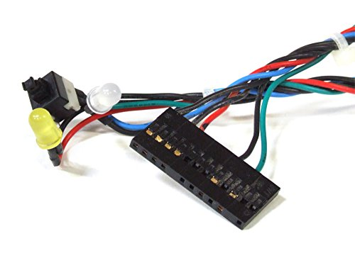 Fujitsu T26139-Y3701-V117 12-Pin Power Button Switch LED Cable Assembly Schalter Kabel (Generalüberholt) -