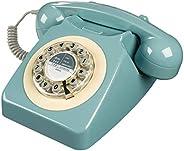 Wild Wood Rotary Design Retro Landline Telephone Dusty Pink