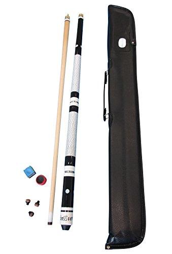 Pool Tasche (WinEver Billardqueue Set inkl. Tasche, Kreide, Trimmer und Ersatzleder von John West)