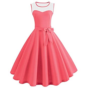 25d2280492 Pingtr Vintage Hepburn Princess Dress