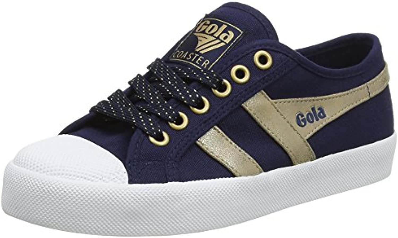 Gola Coaster Mirror Navy/Gold, Zapatillas para Mujer