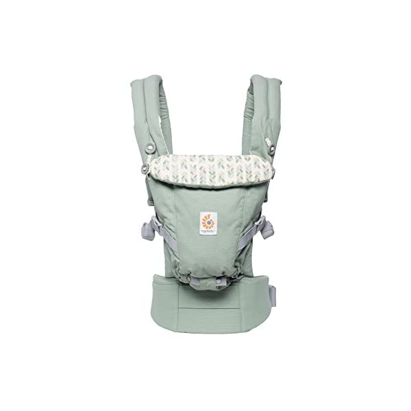 Ergobaby Baby Carrier Collection Adapt (3.2-20 kg), Sage Ergobaby 3 ergonomic wearing positions: on the front, on the back and on the hips Especially easy to use Suitable from birth (3.2 - 20kg) thanks to unique adjustment options 1