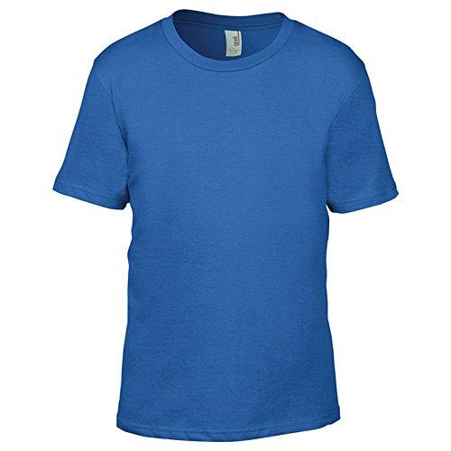 Anvil Herren Modern T-Shirt Königsblau