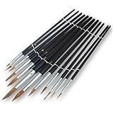 12 Piece Pointed Artist Brush Set
