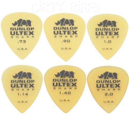 ultex-12-x-dunlop-sharp-plettri-da-chitarra-2-per-ogni-plettro-in-una-comoda-scatola-di-latta