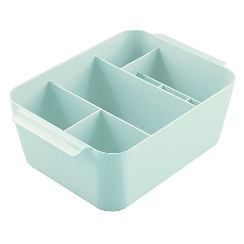 interdesign-clarity-cosmetic-organizer-bin-for-vanity-cabinet-to-hold-makeup-beauty-products-mint