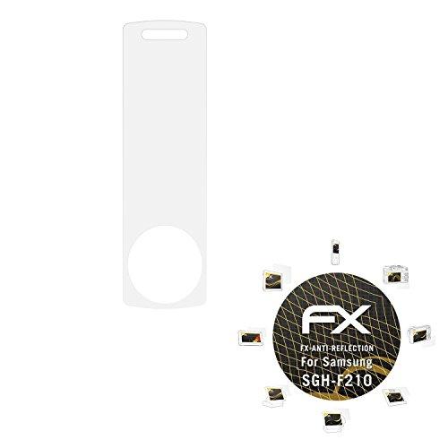 Samsung SGH-F210 Displayschutzfolie - 3 x atFoliX FX-Antireflex blendfreie Schutzfolie