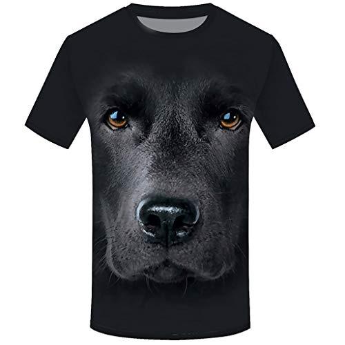 Überprüfen Sie Die Druck-polo (Zarupeng Herren Druck Tees 3D Hund T-Shirt Sommer Kurzarm Rundhals Basic Shirt Unterhemden Baggy Casual Sport Shirt Oberseite)