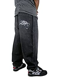 GHETTO BLASTER Easy Baggy Hombre Pantalon steetwear Hiphop Black