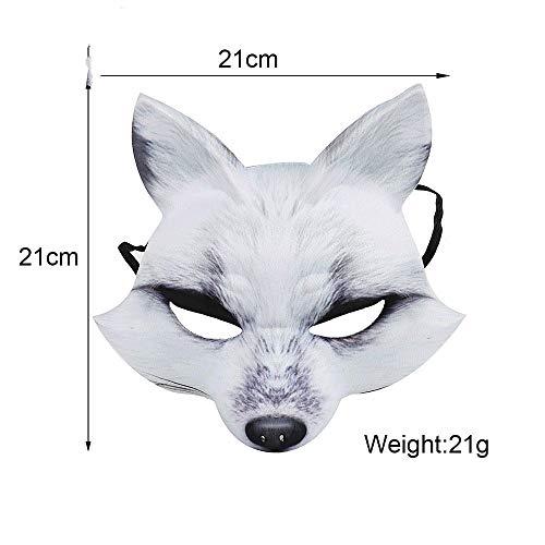 ce Party Maquerade japanischen Anime White Fox Maske, White Fox Maske ()