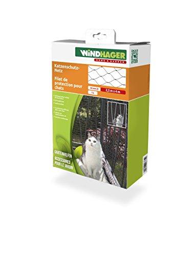 *Windhager Katzenschutz-Netz Katzennetz für Balkon Terrasse und Fenster, aus hochfestem Nylon, 2,5 x 6 m, schwarz*