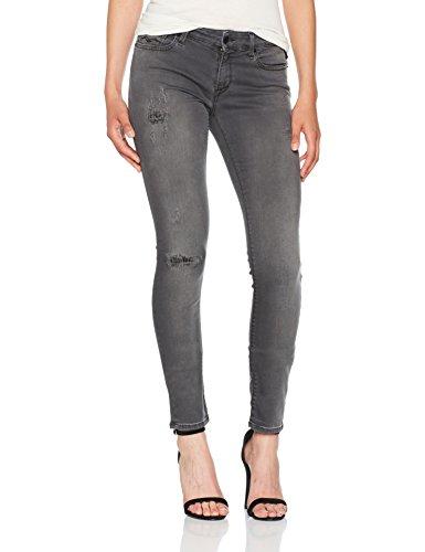 Replay Damen Skinny Jeans Luz Hyperflex Grau (Dark Grey Denim 10)