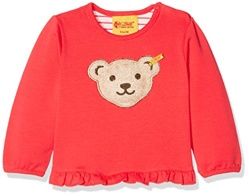 Steiff Collection Mädchen Sweatshirt 1/1 Arm 6833313, Rot (Paradise Pink 2024), 86