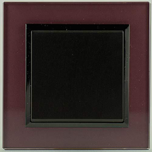 Lichtschalter/Wechselschalter mit Abdeckrahmen aus Glas pflaume, Ospel Sonata Serie