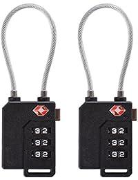 XCSOURCE 2Pcs Verrou Valise Voyage à Code de Verrouillage Combinaison de Sécurité Serrure à Combinaison 3 Chiffres Noir TSA HS268