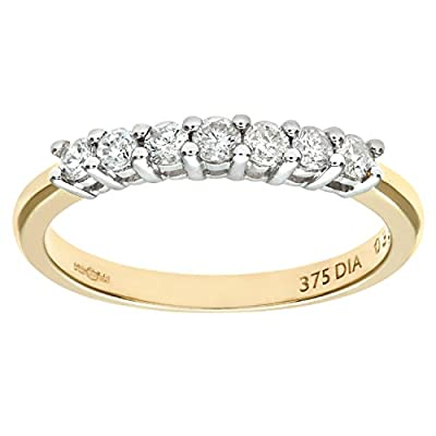 Naava 9ct Third Carat Diamond Claw Set Eternity Ring
