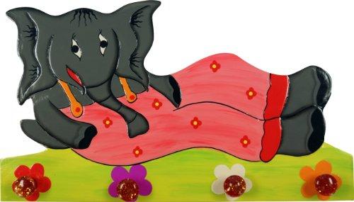 Guru-Shop Colorido Gancho de la Pared Kindergarderobe `Elefant`, 22x40x2 cm, Ganchos Para...