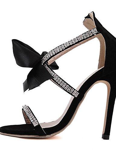 WSS 2016 Chaussures Femme-Décontracté-Noir-Talon Aiguille-Talons-Chaussures à Talons-Polyuréthane black-us5.5 / eu36 / uk3.5 / cn35