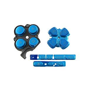 OSTENT Buttons Key Pad Set Reparatur Ersatz Kompatibel für Sony PSP 3000 Slim Konsole – Farbe Blau