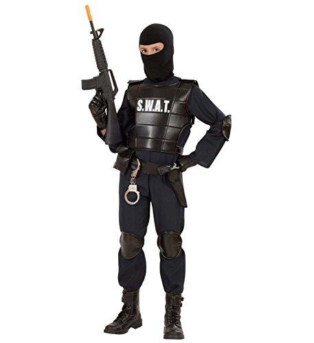 Swat Kostüme Jungen (Kostüm Karneval Kinder Jungen Swat Polizei Serie Körper spezielle  19818, mehrfarbig 116)