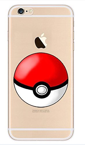 iPhone 6/6s Pokemon Cassa del Silicone / Pokeball Copertura del Gel per Apple iPhone 6S 6 / Protector dello Schermo & Panno / iCHOOSE