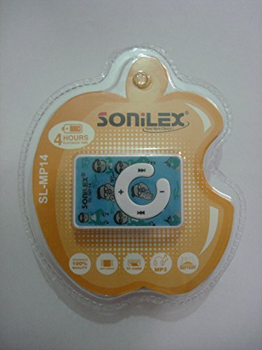Sonilex Clip Style MP3 Player + USB Cable & Earphone