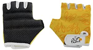 Tour de France Cycling Mitts - Black, Small