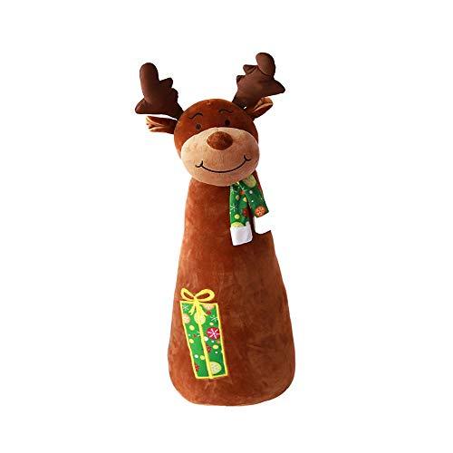 ODJOY-FAN Weihnachtsmann Hirsch Schneemann Pinguin Bär Gemütlich Kissen Weihnachten Dekorationen Gemütlich Kissen Kreativ Geschenk 40cm/28cm/23cm/28cm/40cm(E,40cm)
