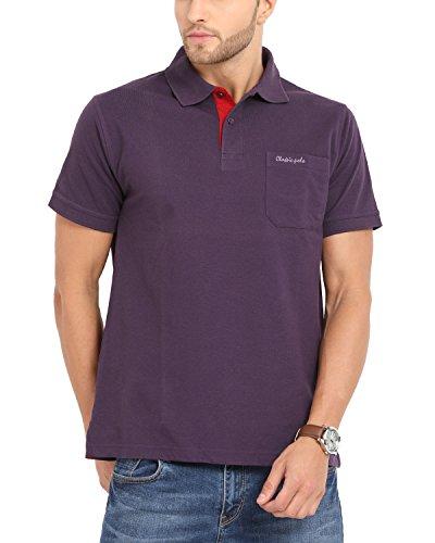 Classic Polo Men's Cotton Half Sleeve Polo T-Shirt (Purple, XL)