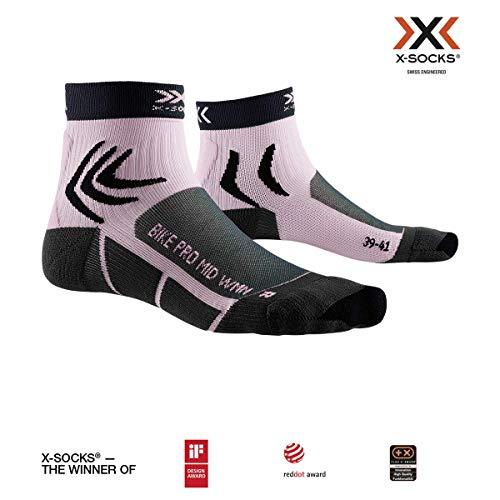 X-Socks Damen Bike Pro Socks, Charcoal/Magnolia Purple, 39-40