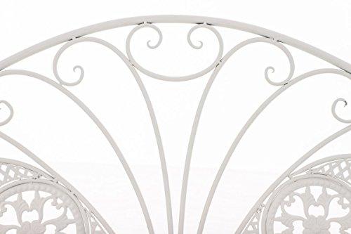 CLP Metall-Gartenbank TJURE im Landhausstil, Eisen lackiert, ca. 140 x 60 cm Weiß - 3