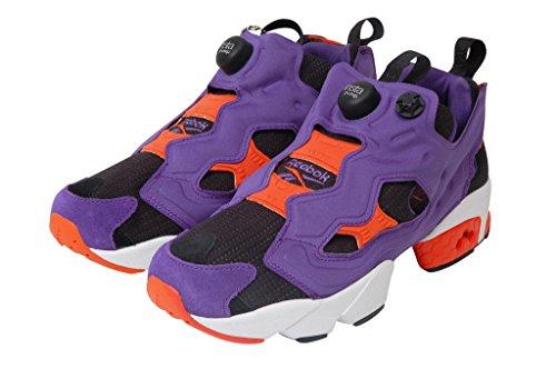 Reebok Instapump Fury Og Violet Orange SPecial Black Edition Retro Sneaker System with Pump Multicolore - Multicolor