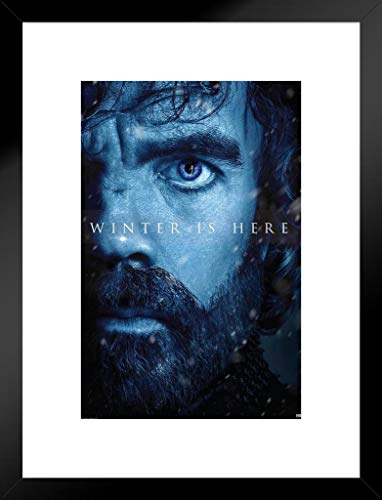 Pyramid America Game Thrones Season 7Winter ist Hier Tyrion Lannister TV Show TV Show 20x26 inches Matted Framed Poster
