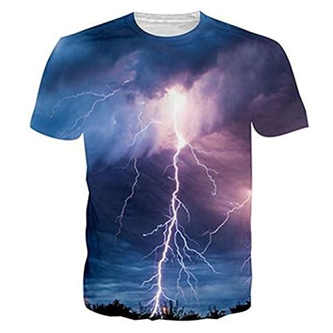 NEWISTAR Unisexe Jeunesse 3D Print Graphic Casual T-shirt à manches courtes Tees