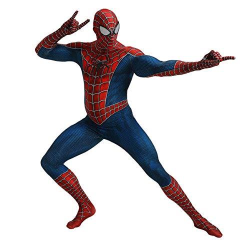 SEJNGF Spider-Man Cosplay Für Erwachsene Kinder Body Strumpfhose Halloween Charakter Performance Kleidung (Kopfbedeckung Kann Getrennt ()