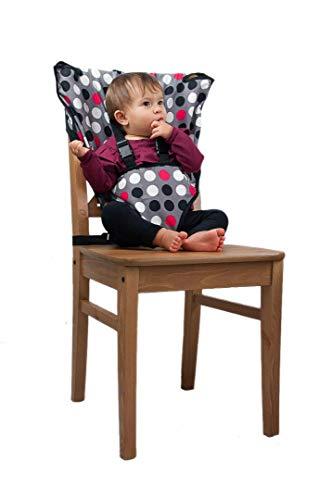 Cozy cover Easy Seat (À pois) - rapide, facile, pratique chaise haute de voyage de tissu adapte dans votre sac à main de sorte que vous pouvez l'avoir partout avec vous pour un bébé plus heureux, plus sûr