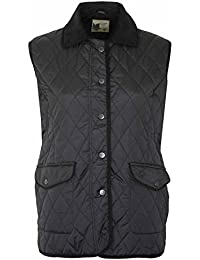 Womens Body Warmer Country Estate Champion Amersham Quilted Diamond Pattern Ladies Gilet (10, Black)