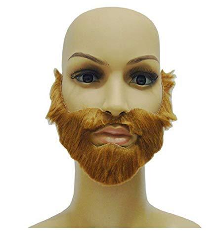 te 1 X Fake Brown Bart für Selbstklebende Parteien - Männer - Frauen - Kinder - Erwachsene - Karneval - Halloween - ()