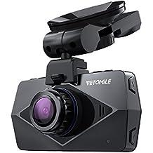 VETOMILE V2 Cámara de Coche WIFI GPS 1440P Full HD Car Dash Cam Retrovisor DVR Grabadora
