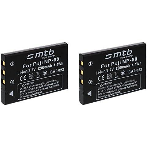 2x Baterías NP-60 para Aiptek, Easypix, JAY-Tech, Medion, Praktica, Rollei, Toshiba, Traveller...