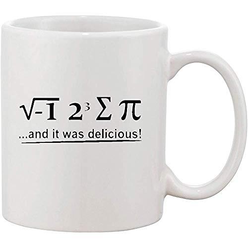 I 8 Sum Pi 3.14 und es war köstliche lustige keramische weiße Tasse des Kaffee-11 Unze -