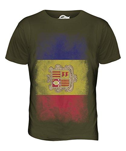 CandyMix Andorra Verblichen Flagge Herren T Shirt Khaki Grün